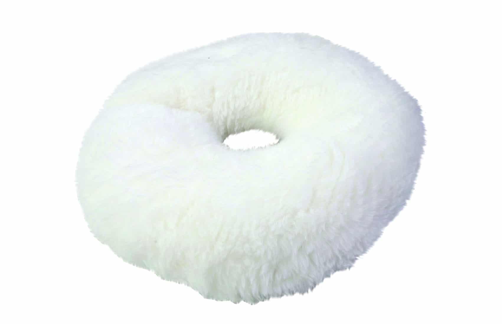 Almofada c/ Formato Circular Fechado da Orthos XXI, em pele sintética, uma almofada de conforto ideal para a dispersão de pressão na posição sentada.