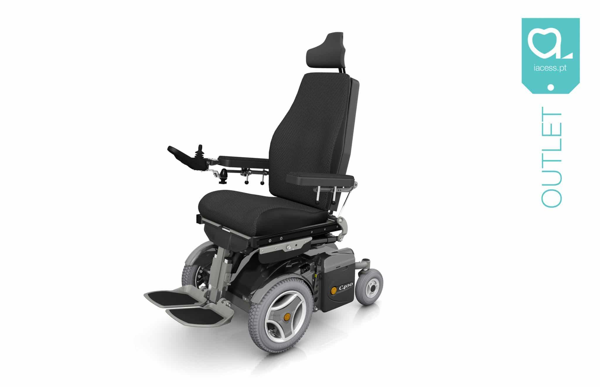 Cadeira de rodas elétrica com tração dianteira