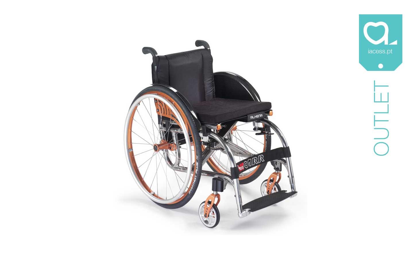 Cadeira de rodas manual com estrutura em titânio