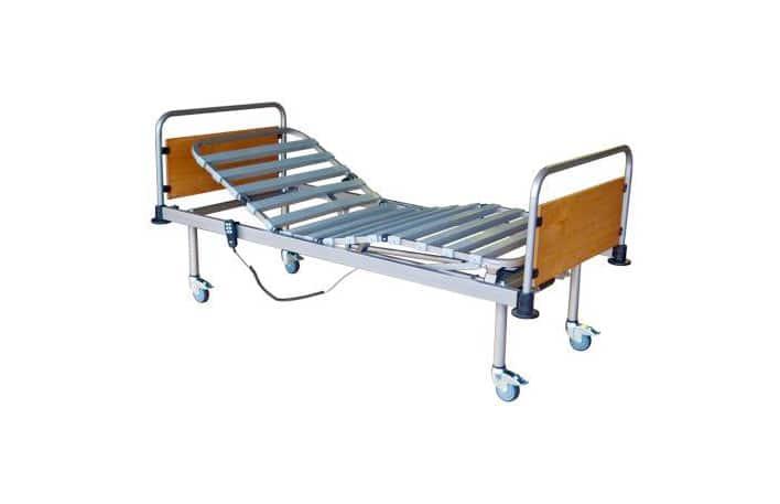 Cama articulada ajuste elétrico em castanho e aluminio