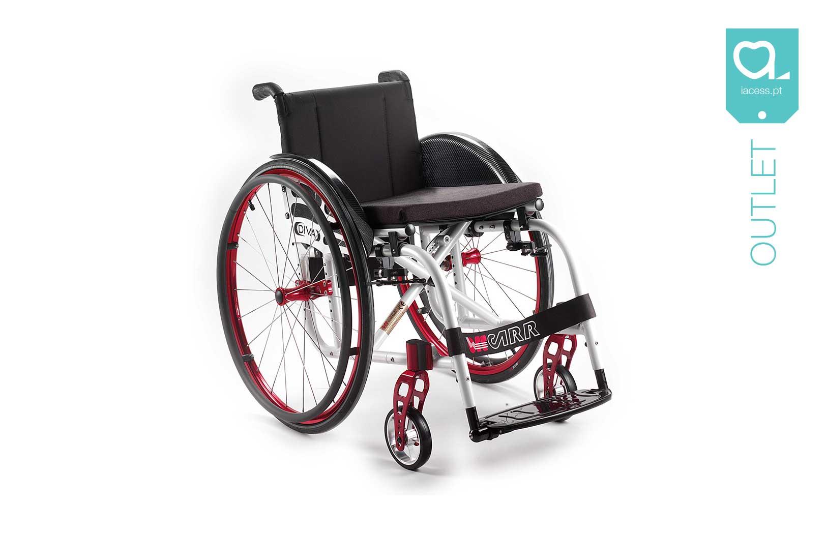 Cadeira de rodas manual estrutura vermelha