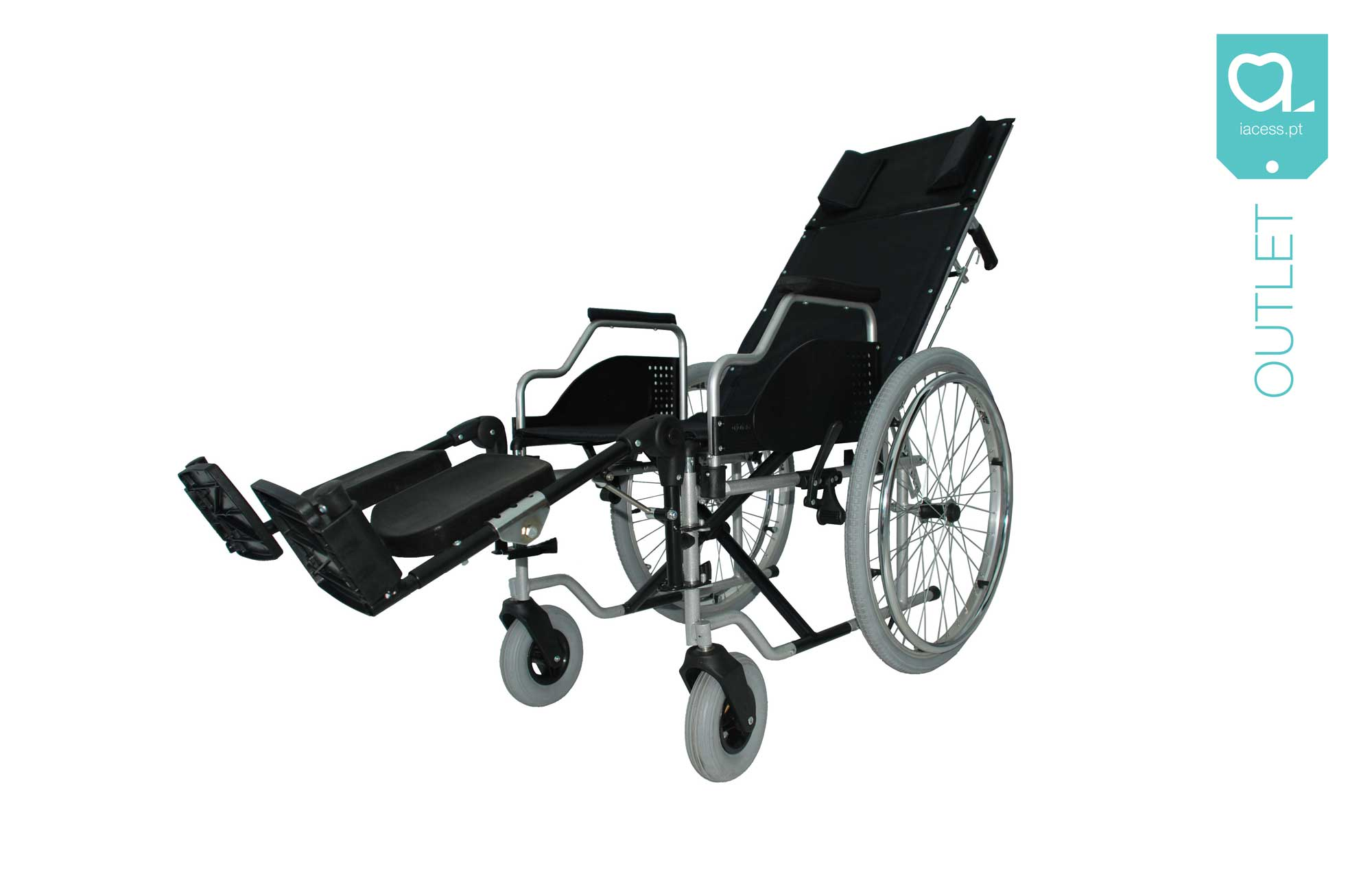 Cadeira de rodas com encosto reclinável