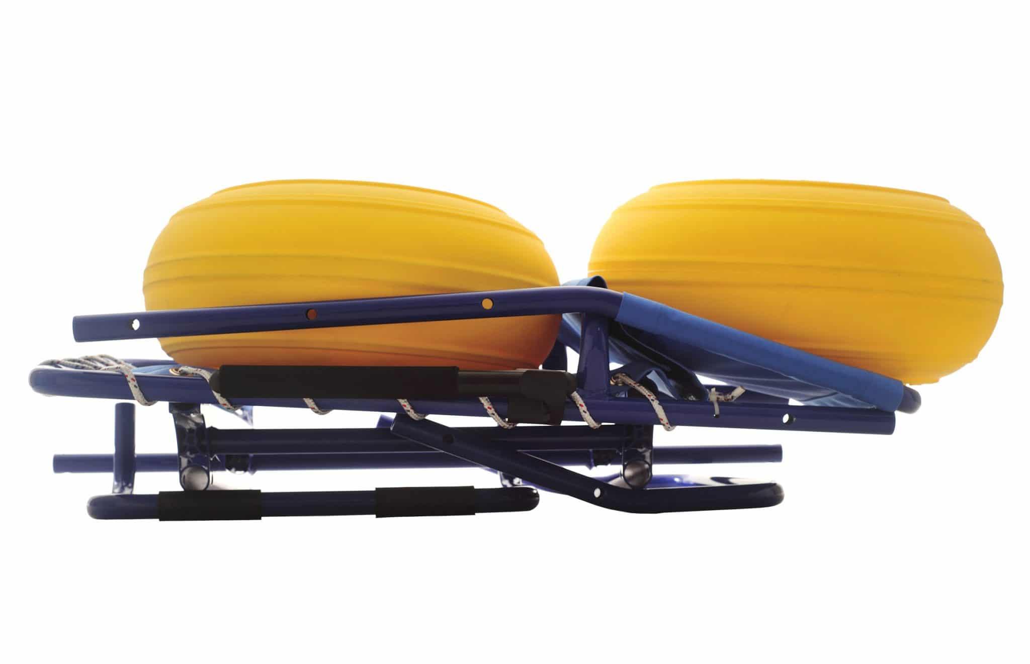 Cadeira de rodas anfíbia desmontada