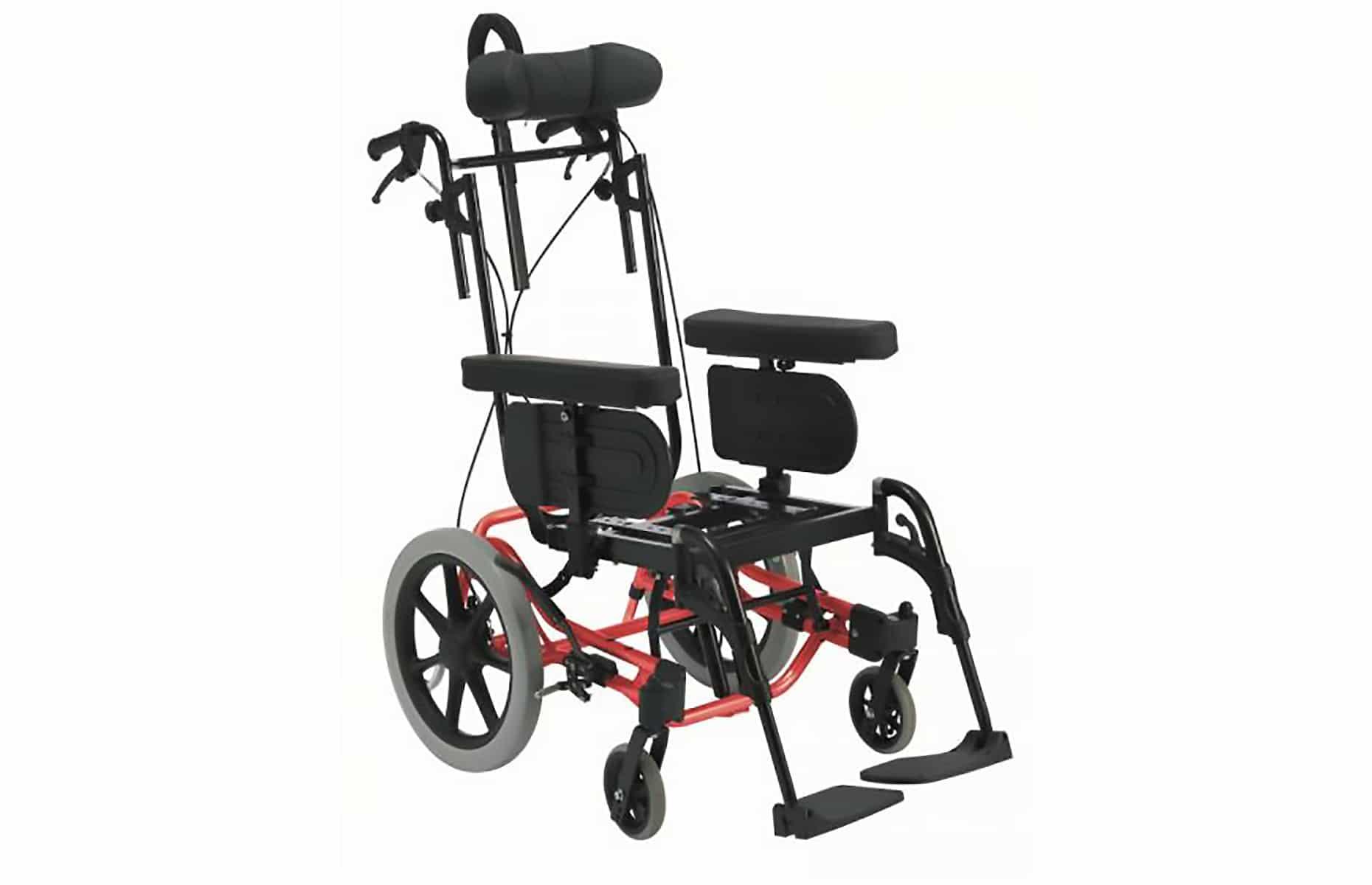 Chassi de cadeira de rodas manual vermelha