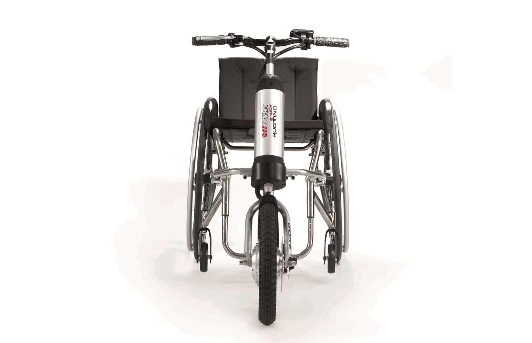 Cadeira de rodas com Ruotino vista de frente