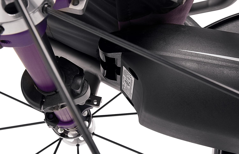 Cadeira de rodas com smartdrive com vista traseira
