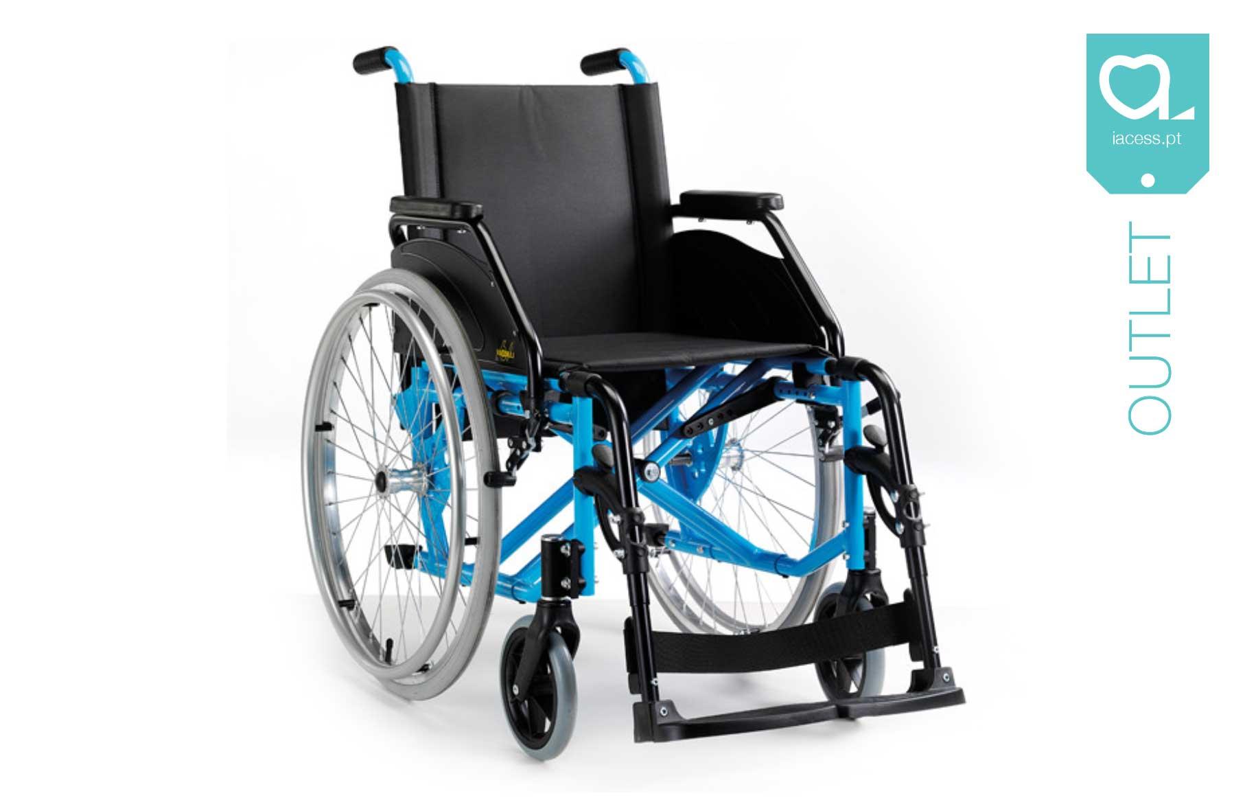 Cadeira de rodas manual azul
