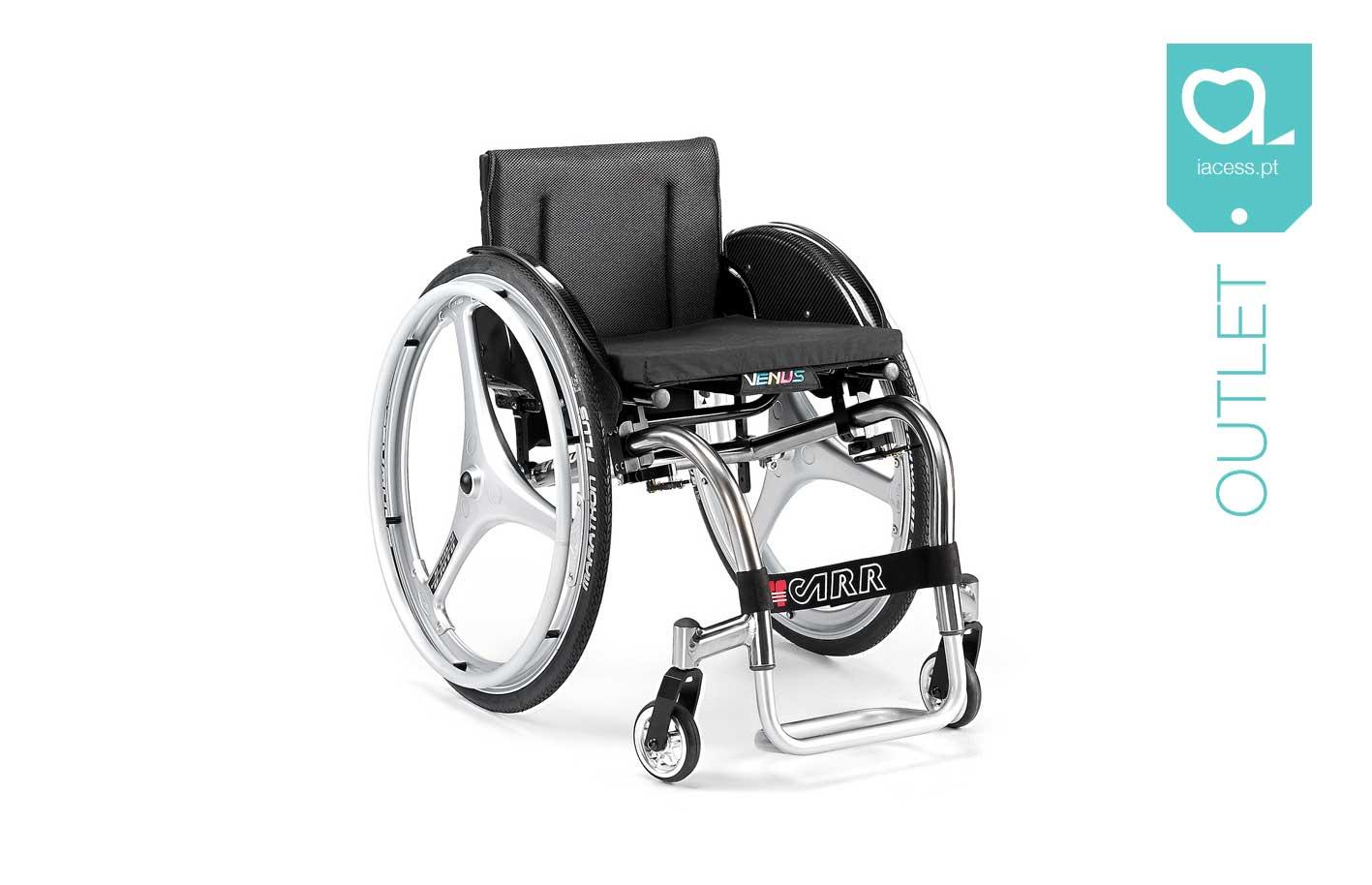 Cadeira de rodas manual estrutura cinzenta