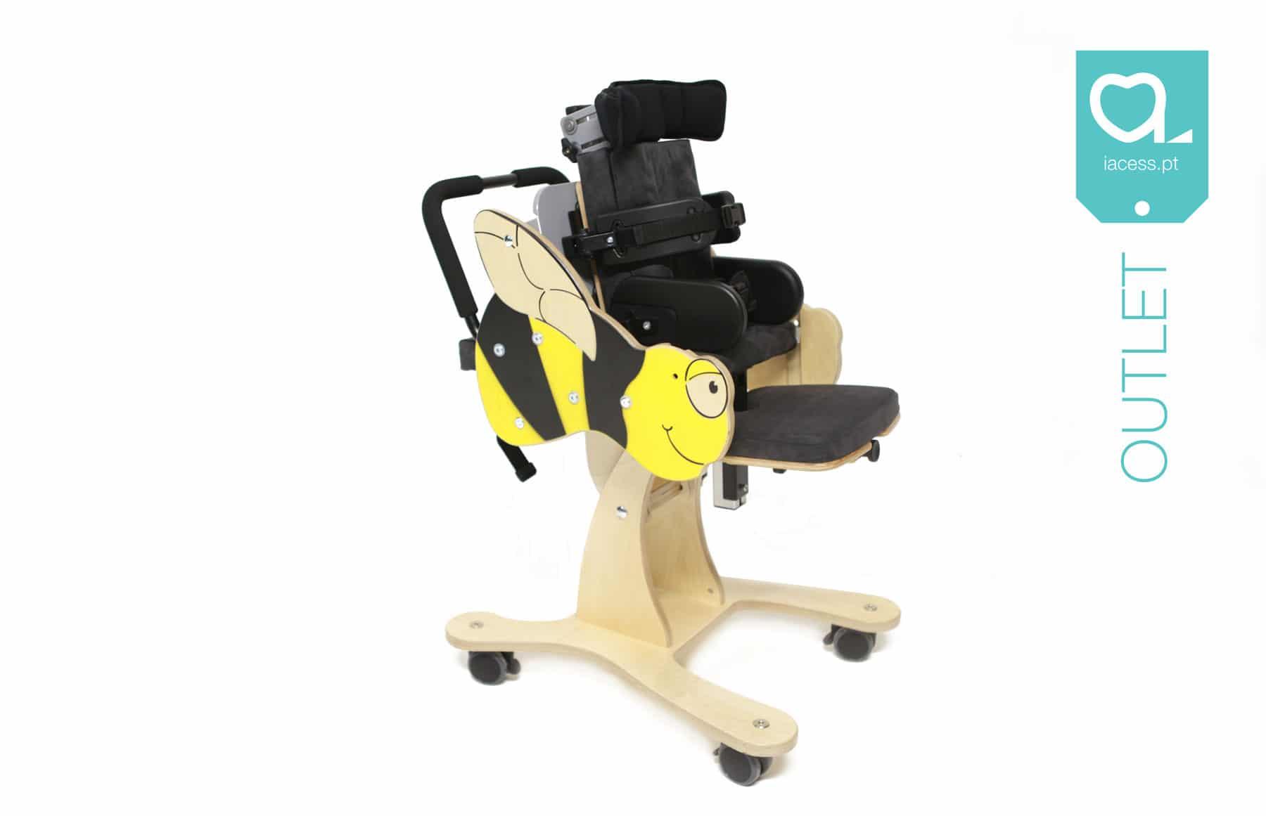 Cadeira pediátrica de posicionamento com desenho de abelha