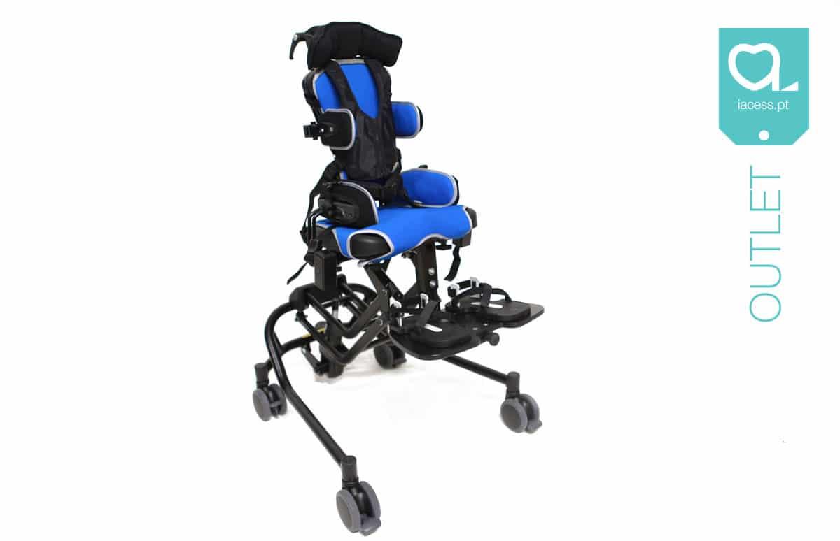 Cadeira pediátrica de posicionamento azul