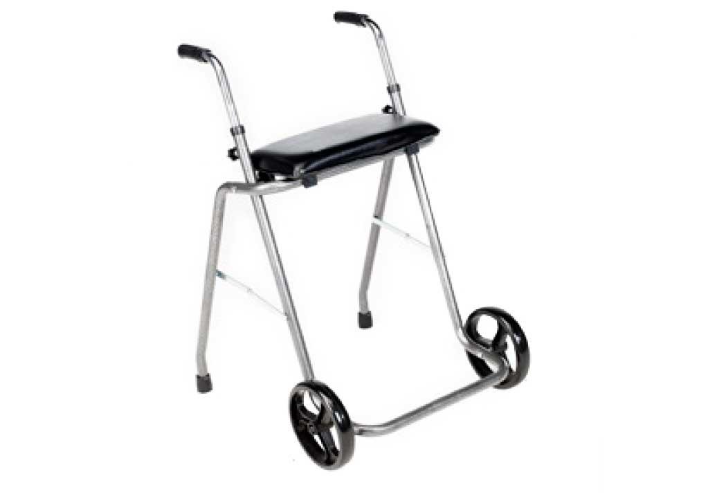 Andarilho de aço com rodas e assento - Sunrise Medical