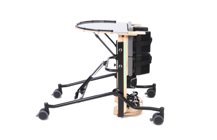Prono Stander da Jenx, tamanho 1, indicado para crianças com 3-7 anos. Permite um ajuste em altura e inclinação, para obter a posição ideal e maior conforto