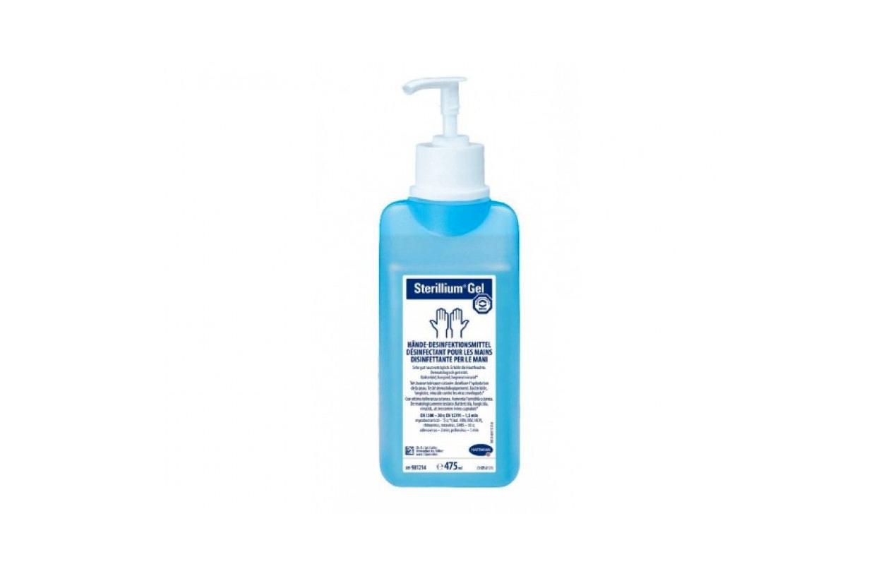 Embalagem de gel esterilizante, azul.