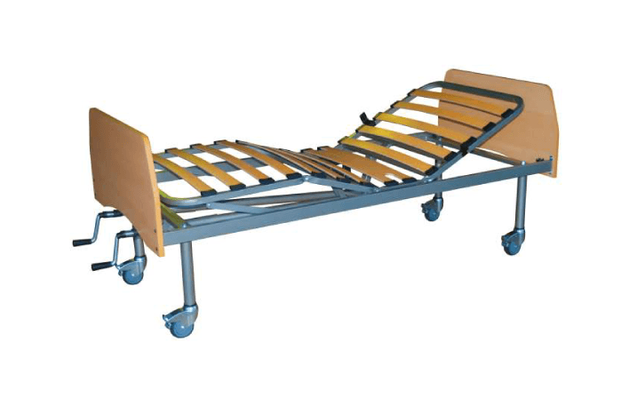 Cama Articulada Manual Fantasy da Orthos XXI, com estrutura em epoxy e cabeceiras desmontáveis em faia. Ajuste manual por manivelas. Convertível em elétrica