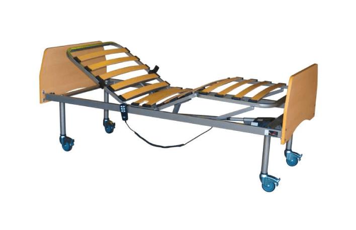 Cama Articulada Elétrica Fantasy da Orthos XXI, com estrutura em epoxy, com ajuste elétrico e com cabeceira e peseiro em faia, desmontáveis.