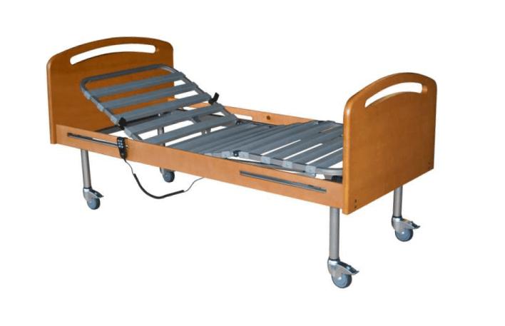 Cama articulada, com sistema de ajuste elétrico, disponível em diferentes versões de equipamento.