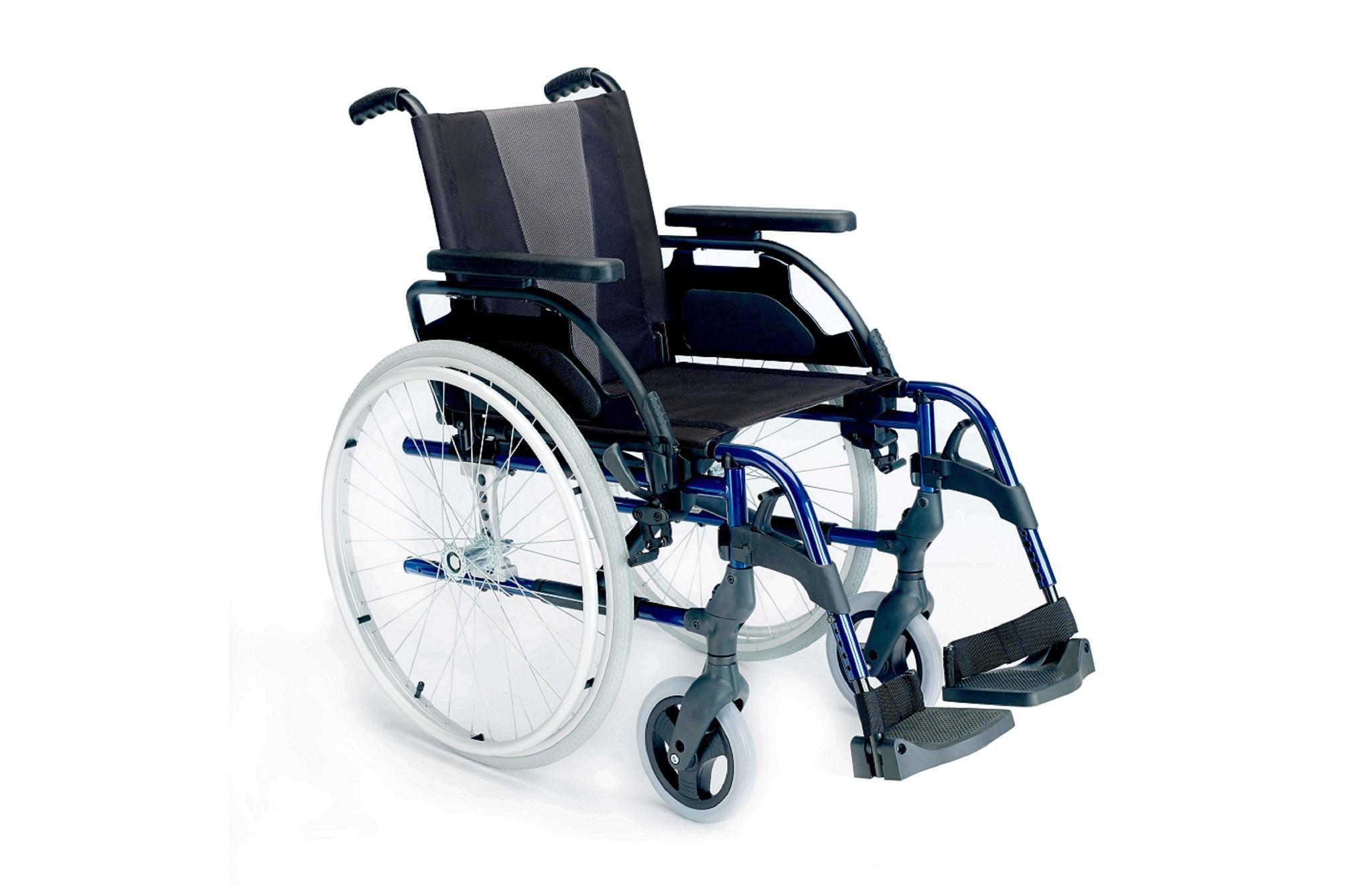 Cadeira de rodas manual Breezy Style azul