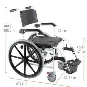 Cadeira de banho e sanitaria A538