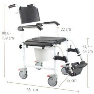 cadeira de banho sanitaria A539