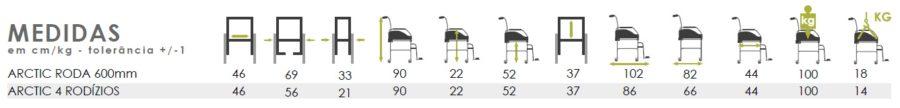 cadeira de banho sanitaria arctic medidas