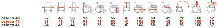 cadeira de rodas azteca orthos xxi medidas