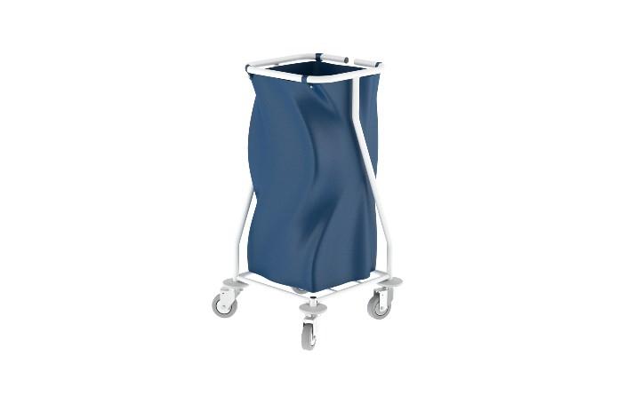 Carro de roupa suja simples da Hcaresol, com estrutura aço e saco em tela, para 120 lts de capacidade. Disponivel em diferentes modelos.