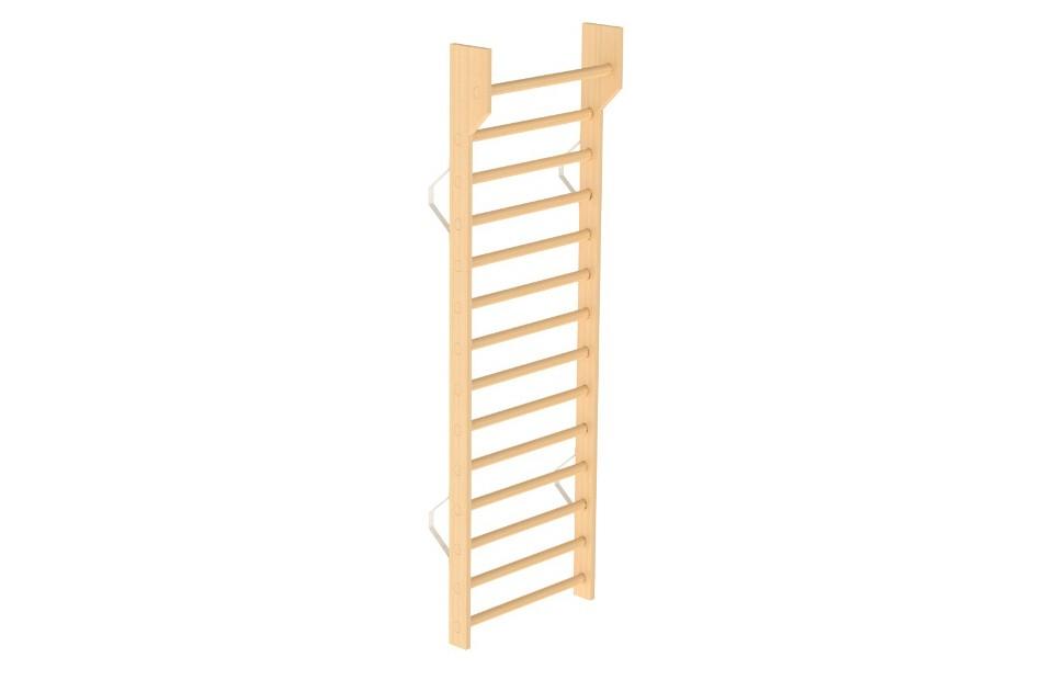Espaldar Simples em Madeira da HCARESOL com estrutura em madeira faia e acessórios para fixação à parede