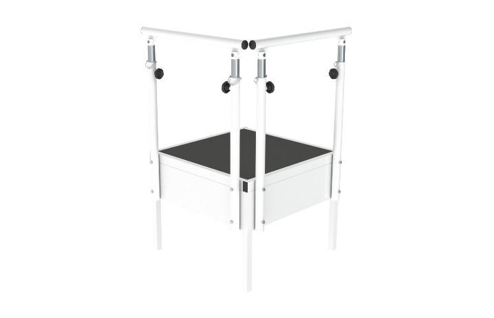 Módulo plano de descanso da Hcaresol, material para fisioterapia com estrutura em aço. Base antiderrapante e regulável em altura. APENAS 265.99€.