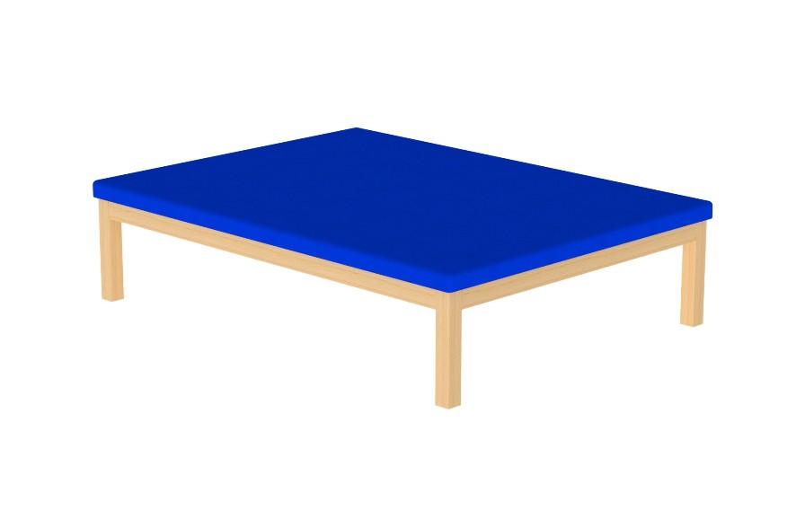 Plano Elevado (Marquesa Bobath) da HCARESOL, em madeira e estofo em espuma, com estrutura desmontável, para fácil arrumação e transporte.