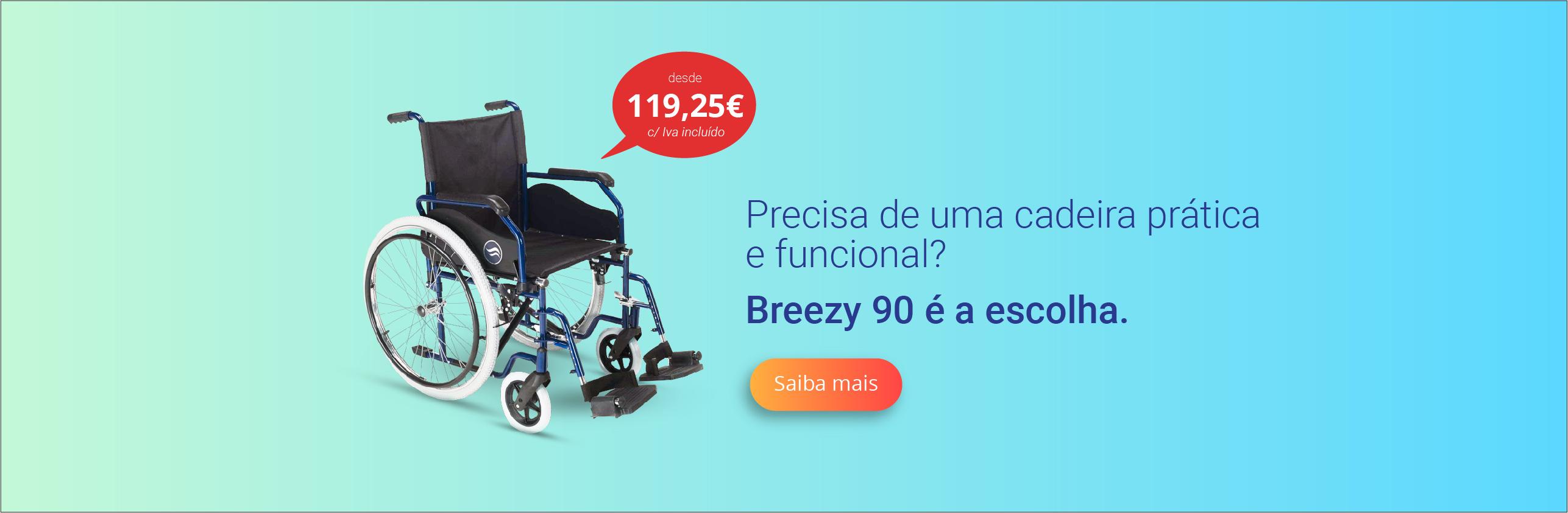 Cadeira de rodas Breezy 90 IACESS Ortopedia