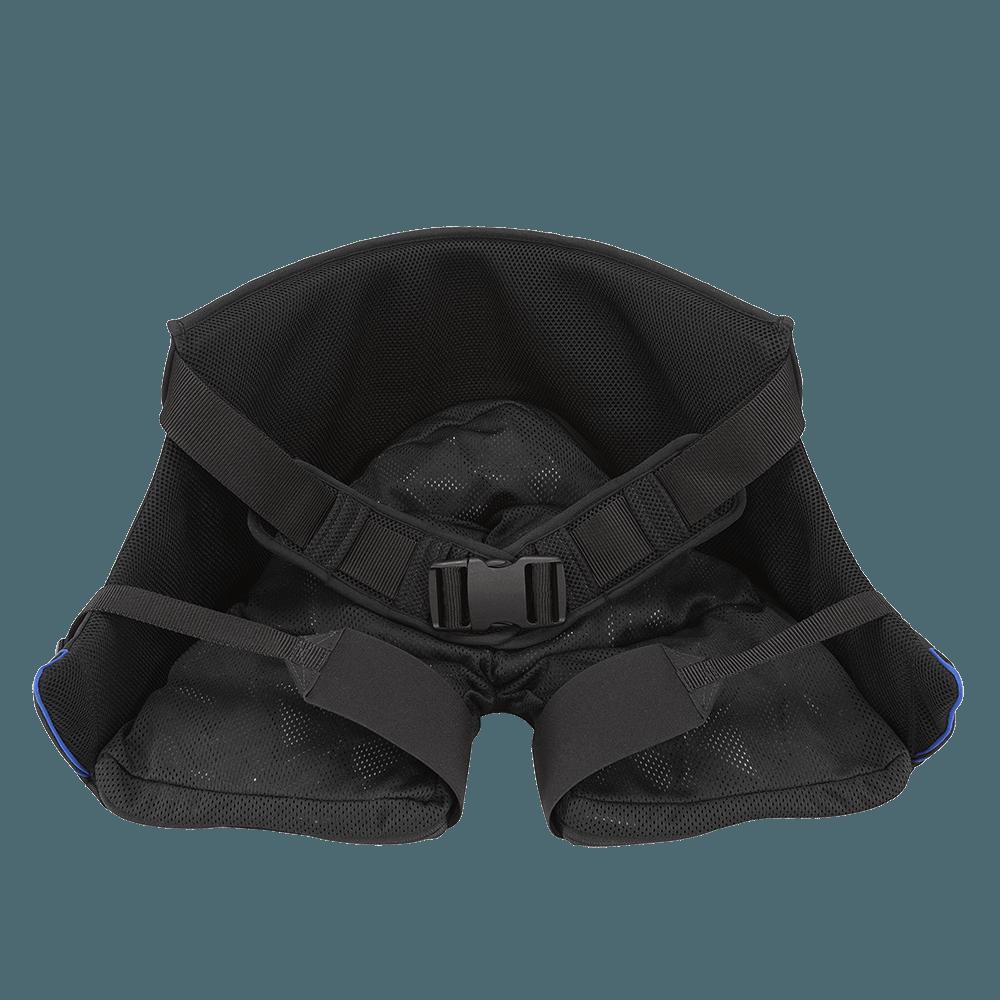 A almofada VICAIR ALLROUNDER O2 é um revestimento acoplado ao corpo do utilizador, que mantém a proteção da pele mesmo fora da cadeira de rodas.