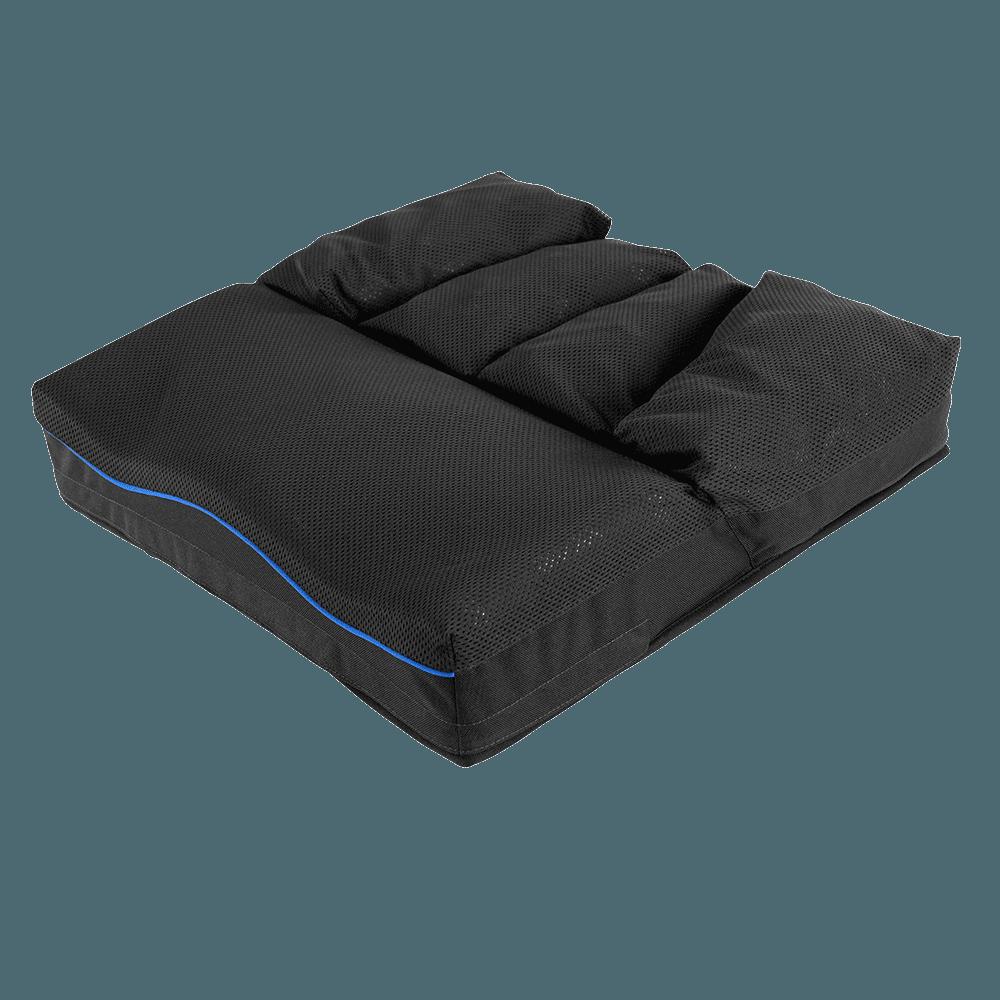 A almofada VicairACTIVE O2foi projetada para o utilizador ativo de cadeira de rodas. Oferece a combinação única de espuma moldada e Vicair SmartCells.