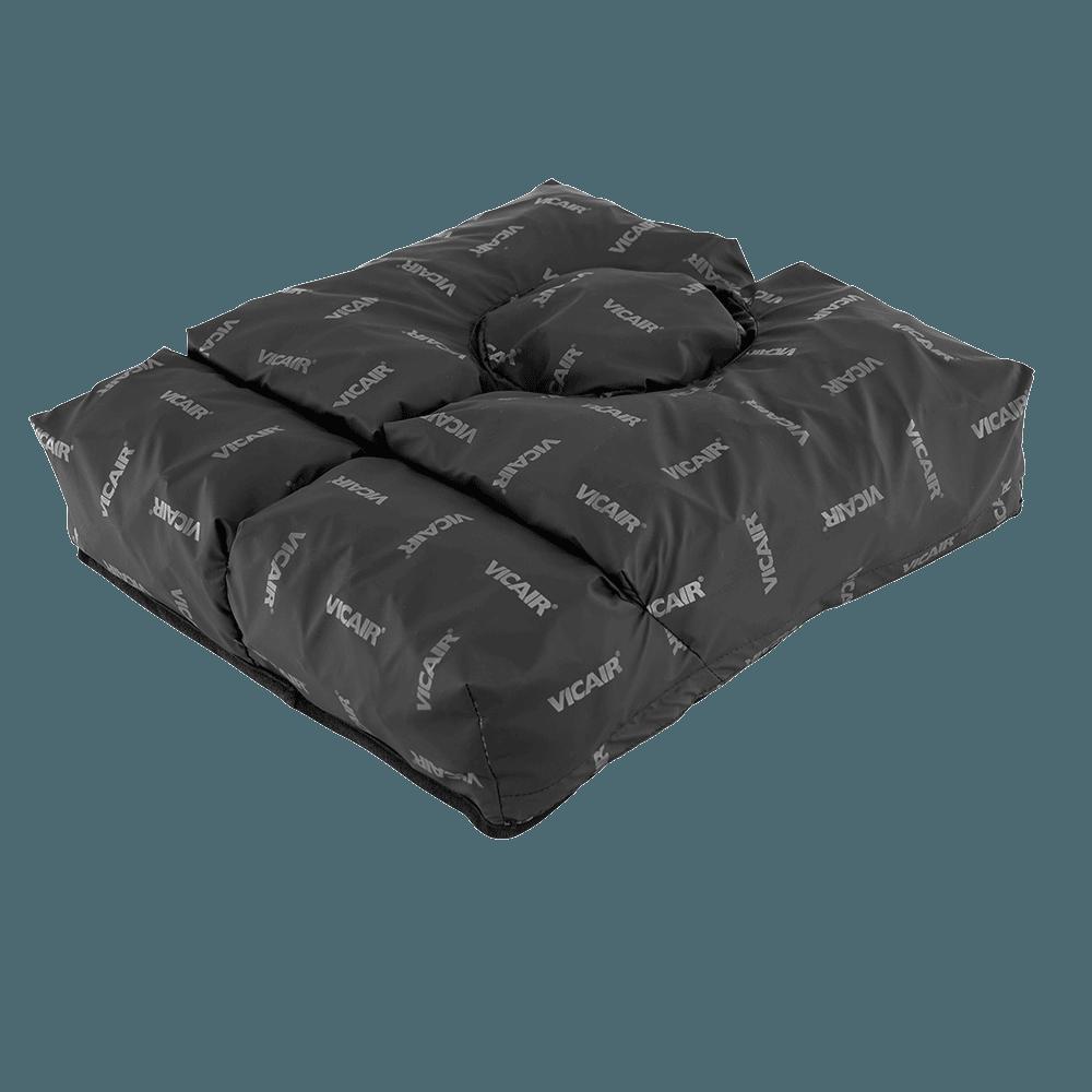 A almofada de conforto e prevenção de escaras CENTRE RELIEF foi desenvolvida para dar especial proteção a utilizadores com úlceras na zona do cóccix.