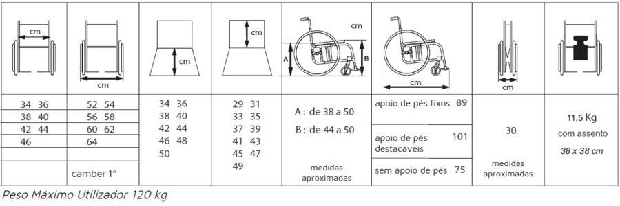 cadeira de rodas diva medidas