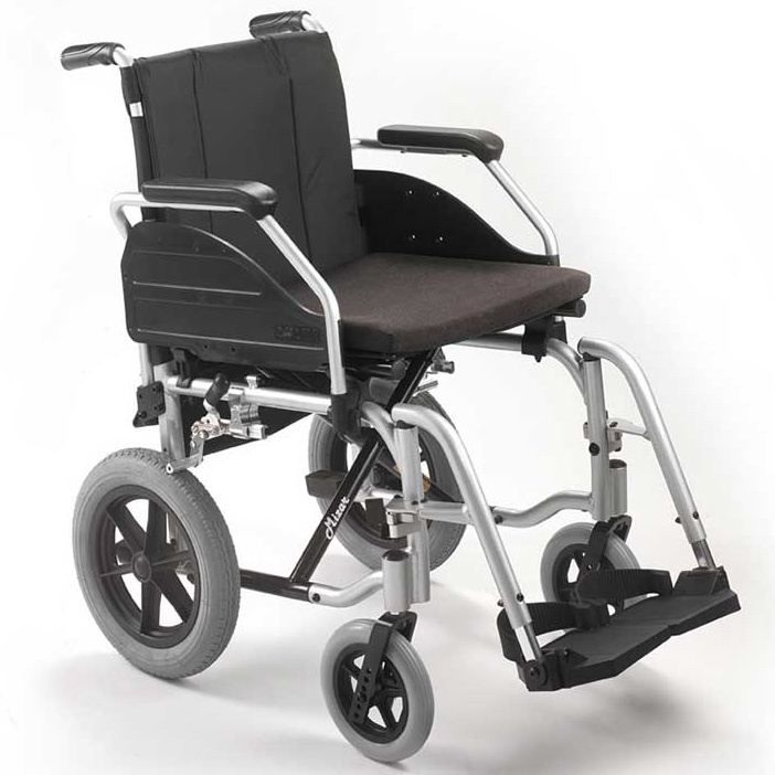 """Cadeira de rodas 12"""" Mizar Cinza"""