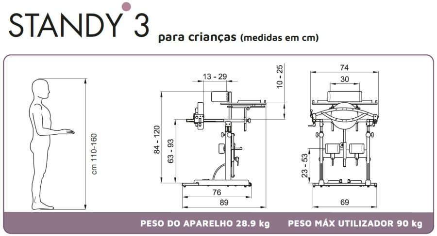 Standing frame standy 3 medidas